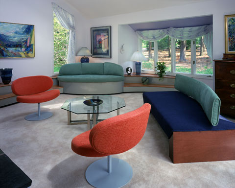 Living in a colorful painting modern-living-room