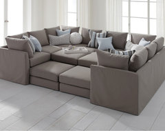 Dr. Pitt Slipcovered Sectional contemporary sectional sofas