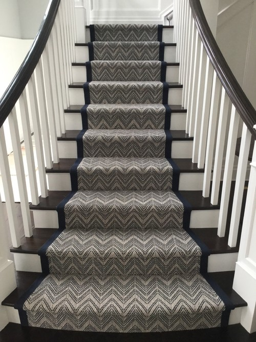 The Latest Stair Runner Made On The Job 2 Quot Navy Cotton