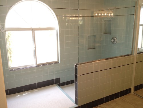 basic tub shower one piece unit to a large walk in shower
