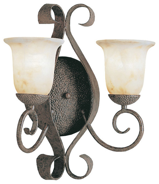 Kichler Lighting 6608OI High Country Old Iron Wall Sconce - Rustic - Wall Sconces - by Littman ...