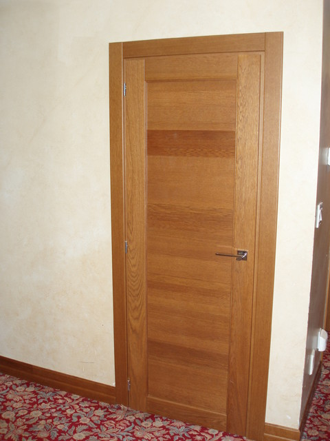 Italian interior doors in solid TEAK OAK contemporary interior doors