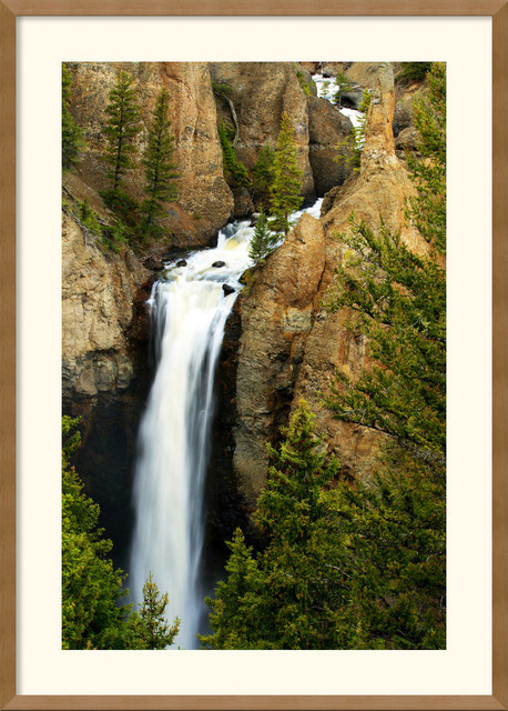 Tower Falls Framed Print by Andy Magee traditional-prints-and-posters