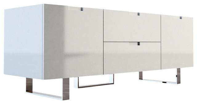 Eldridge Media Cabinet, White Lacquer contemporary-media-storage