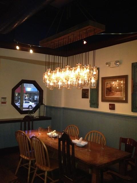 custom chandelier of jars rustic chandeliers