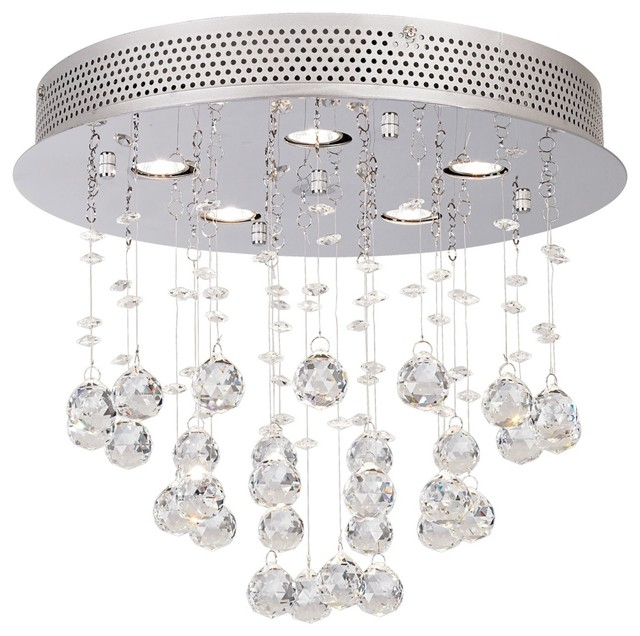 "Contemporary Vienna Full Spectrum Crystal Ball 15"" Wide Ceiling Fixture contemporary ceiling lighting"