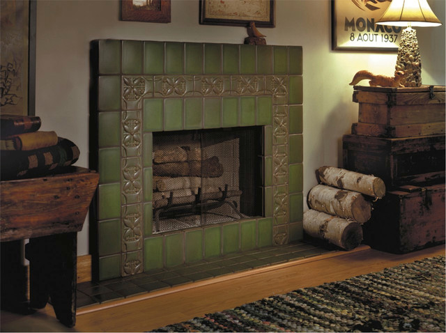 Handcrafted Ceramic Tile eclectic-living-room