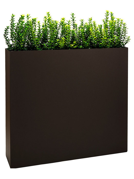 """Modern Planter - Partition Tower Planter, Bronze, Large - The """"Partition"""" tower planter is a functional modern plant container that is nearly 3 feet in height (34"""") and narrow from front to back making it the perfect product to create a wall of plants or a partition to separate spaces."""