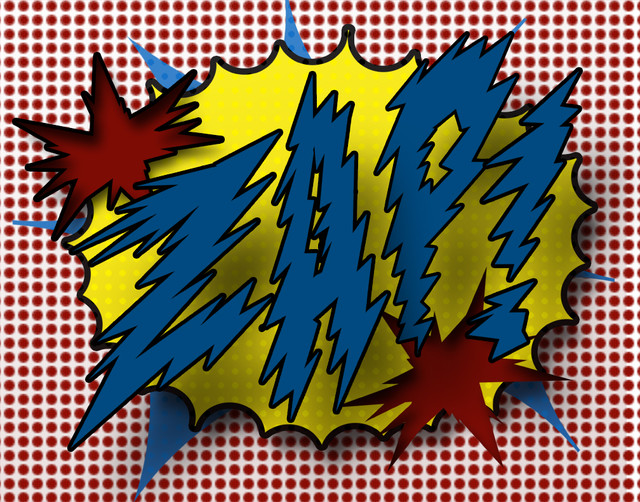 11x14 Print of Comic Book Sound Zap! - Contemporary - Artwork ...