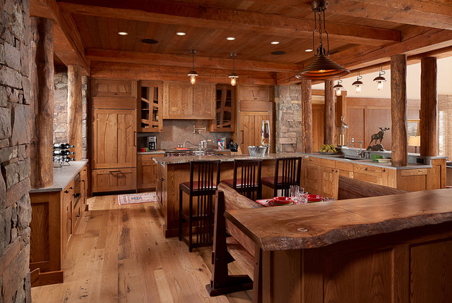 Modern rustic kitchen lighting by aldo bernardi usa by - Modern rustic kitchen cabinets ...