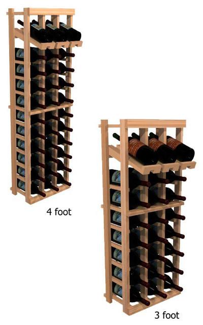 Three Column with Display Winemaker Series Individual Bottle Kit Wine Rack in Ru contemporary-wine-racks