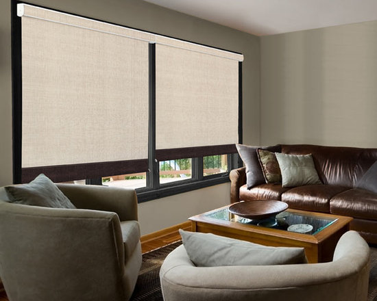 BlindSaver kcStudio Blackout Roller Shades - The Studio Collection from Kristan Cunningham offers you designer-quality materials and options to suit any style of decor. This exclusive collection features a palette of solids and patterns that are soothing and contemplative, with an edgy flair: colors and that match your life for today and for all your tomorrows. Add custom options like Designer Metallic hardware, a fabric covered cassette, or motorization. All shades include a fabric wrapped elliptical grooved bottom rail.