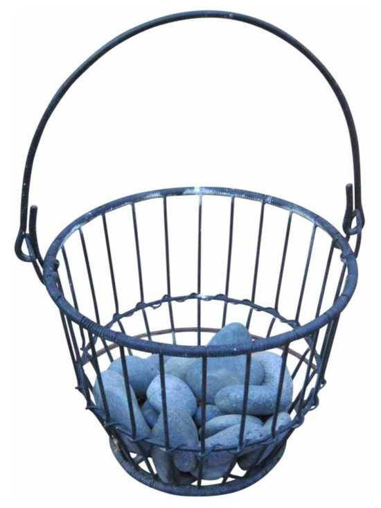 Heavy wire basket - This heavy wroght iron wire basket is good for a plant, or anything else that you may want to house in it, use your imagination, from Mexico circa 1950.