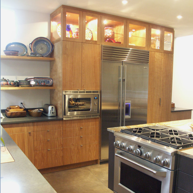Contemporary Euro Style Kitchen Cabinetry Contemporary
