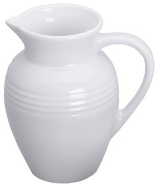 Le Creuset Stoneware Pitcher, White contemporary-pitchers
