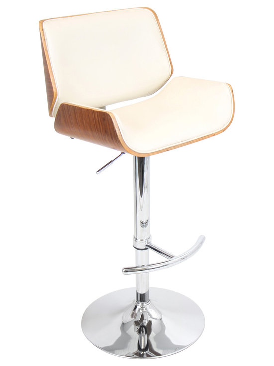 Santi Bar Stool - WALNUT/CREAM