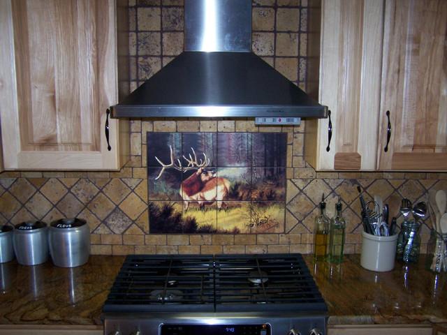 kitchen back splash elk tile mural by designers choice tile rustic