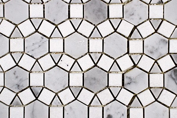 Sunflower Marble Mosaic Tiles Modern Mosaic Tile By Saltillo