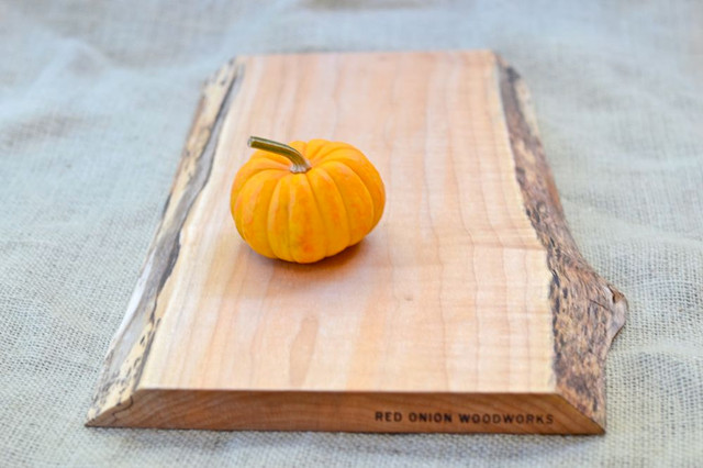 Rustic Wood Cutting Board, Natural Edge, Salvaged 372 by Red Onion Woodworks traditional knives and chopping boards