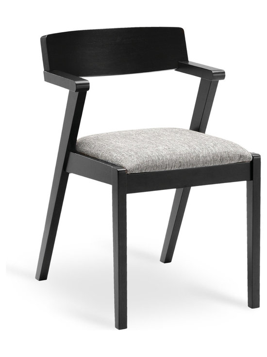 Bryght - Zola Coral Fabric Upholstered Ebony Dining Chair - A trendy mid century modern design, the Zola dining chair beautifully fuses high style and good construction. Sleek, angular and curvy, the Zola chair is a trendy addition to any household.