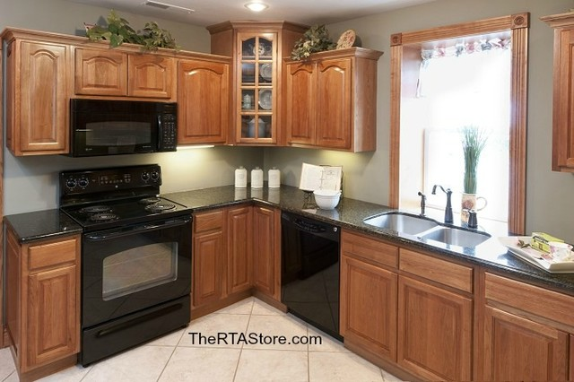 Rustic Hickory Cabinets traditional kitchen cabinets