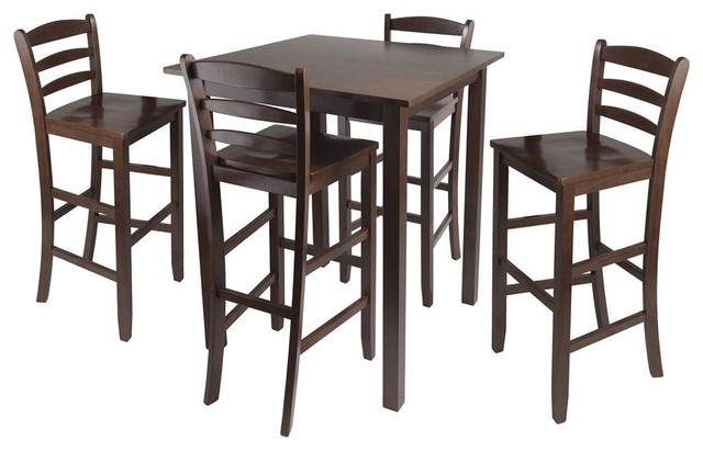 Parkland 5 Pc Square High Pub Table Set Contemporary Dining Sets