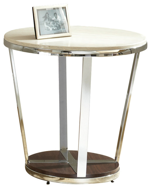 steve silver bosco faux marble end table with espresso base traditional side tables and end. Black Bedroom Furniture Sets. Home Design Ideas