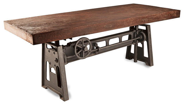Gerrit Industrial Style Rustic Pine Iron Dining Table