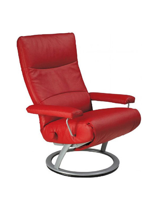 Jessye Recliner - The Jessye chair exemplifies our push toward creating modern furniture. The Jessye would be a perfect addition for anyone looking to spice up their home with some dapper furniture. Available in a variety of sleek top grain leather with a powder coated aluminum base.