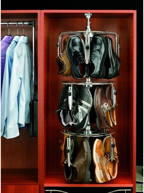 Product & Accessory Ideas - Rotating shoe tower