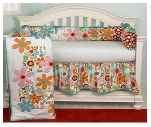 Lizzie 4 Piece Crib Bedding Set modern-cribs