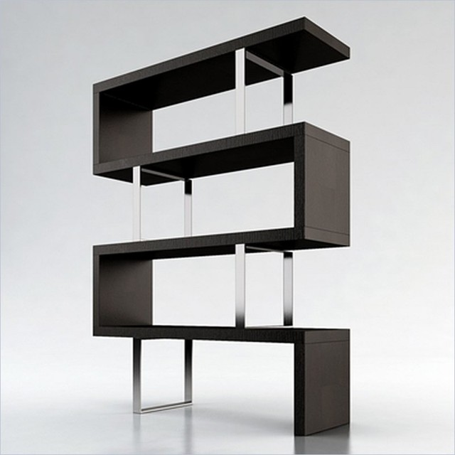Modern Wood Shelves : Modloft Pearl Modular Wood Bookcase in Wenge - Modern - Bookcases ...
