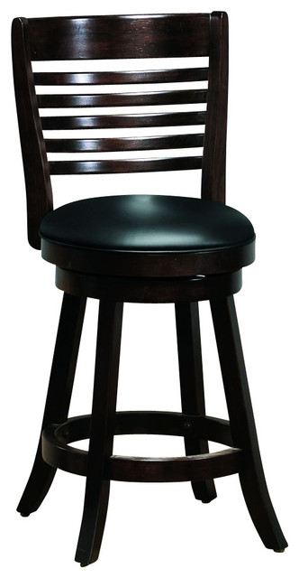 Monarch Specialties Contemporary 24 Inch Swivel Counter Height Stool transitional-bar-stools-and-counter-stools