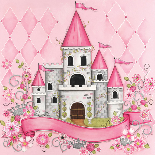 Princess Castle Personalized Canvas Reproduction - Modern - Artwork - by Rosenberry Rooms