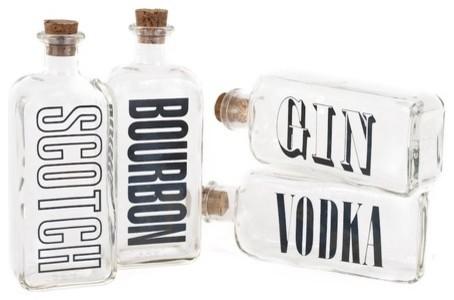 Vintage Liquor Bottle - Bourbon eclectic-barware