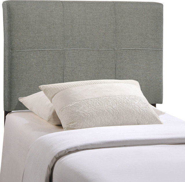 Lily Twin Vinyl Headboard White