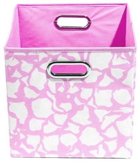 Rose Giraffe Folding Storage Bin modern-storage-bins-and-boxes
