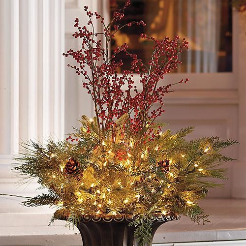 "44"" Estate Urn Filler Christmas Decor"