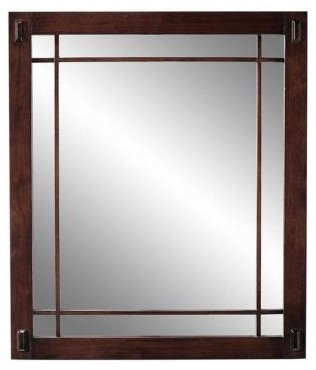 Home Decorators Collection Artisan 25.5 in. H x 30 in. W Bathroom Mirror in Maci contemporary-bathroom-mirrors