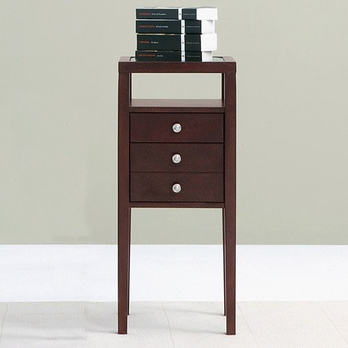 Sitcom freesen 30 inch nightstand pedestal modern for 12 inch bedside table