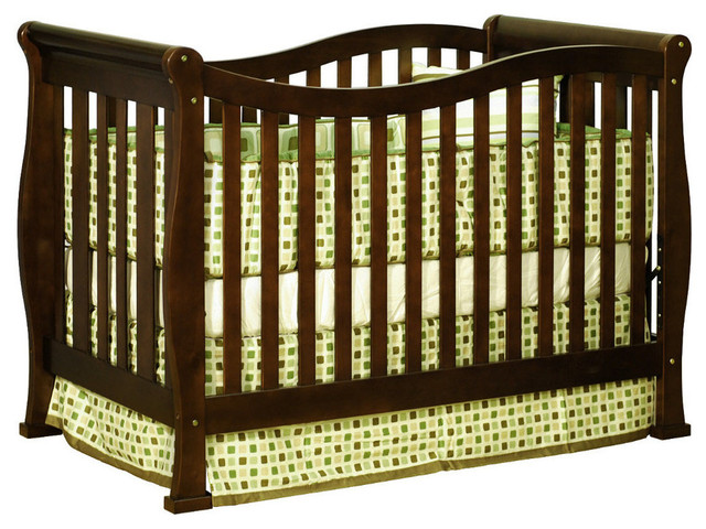 Nadia Convertible Crib with Toddler Rail Espresso traditional-cribs