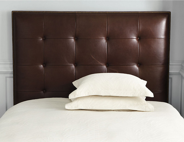 Squire Leather Headboard with Nail Head Trim traditional-headboards