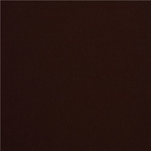 Solid Dark Brown Clothworks Organic Fabric From The Usa