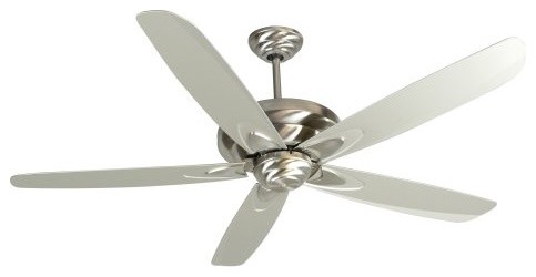 Craftmade ZE56SS Zena 56-in. Indoor Ceiling Fan - Stainless Steel contemporary-ceiling-fans