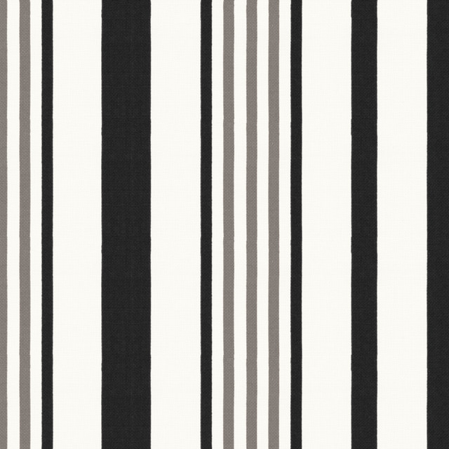 Black and White Striped Outdoor Fabric