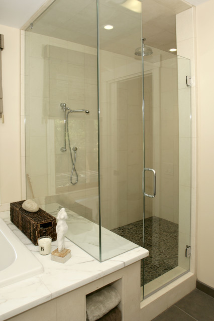 Heladsburg Master bath contemporary bathroom