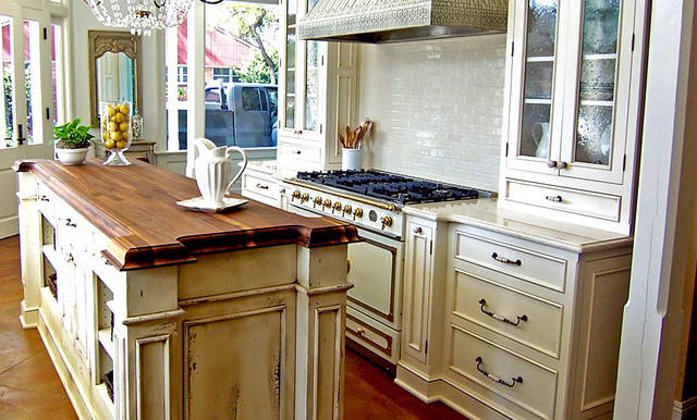 Walnut Wood Kitchen Island Countertop by Grothouse traditional-kitchen-countertops