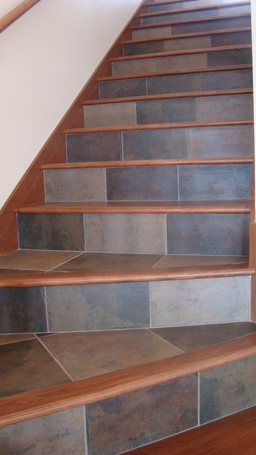 Tile And Wood For Your Stairs Contemporary Staircase
