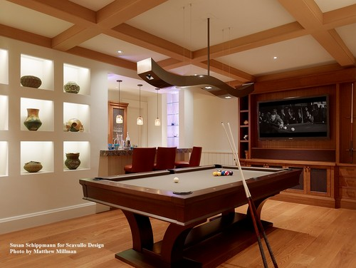 Modern Billiard Table Lights: I Love The Light Fixture Over The Pool Table. What Brand