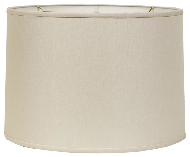 """16"""" Belgian Linen Drum Shade- Beige or Cream - Lamp Shades - by Shades of Light"""
